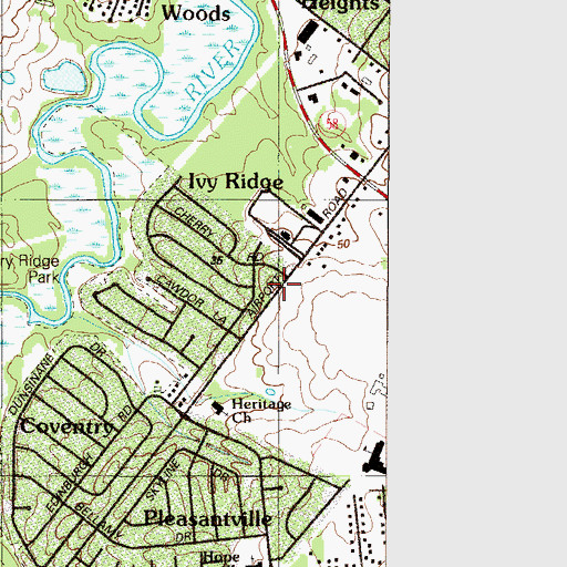 Topographic Map of Heritage Presbyterian Church, DE
