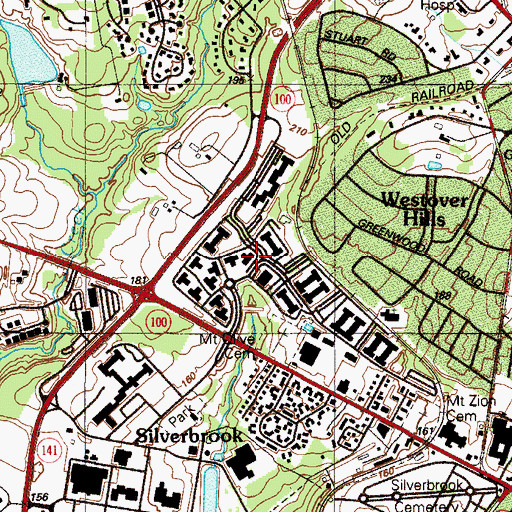 Topographic Map of Barley Mill Plaza Professional Park, DE