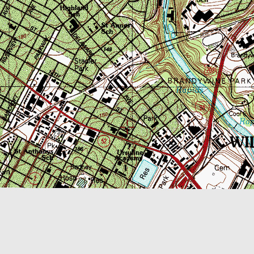 Topographic Map of Saint Stephens Lutheran Church, DE