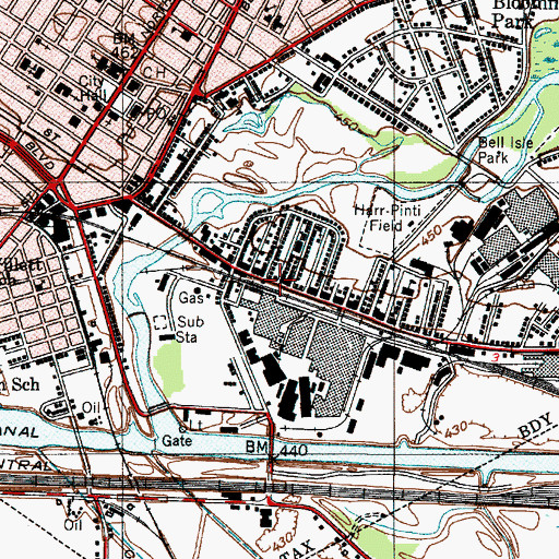 Topographic Map of East Rome Branch Jervis Public Library, NY