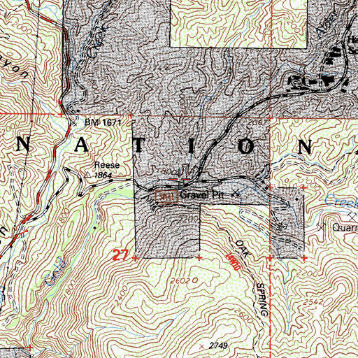 Topographic Map of Alder Creek, CA
