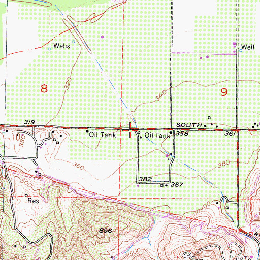 Topographic Map of Balcom Canyon, CA