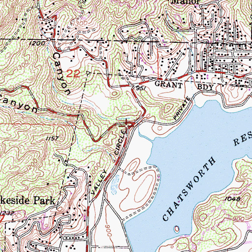 Topographic Map of Box Canyon, CA