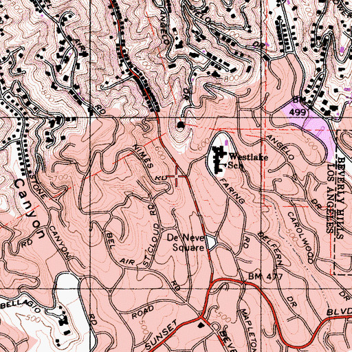 Topographic Map of Brown Canyon, CA