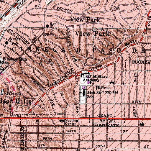 Topographic Map of California Military Academy (historical), CA