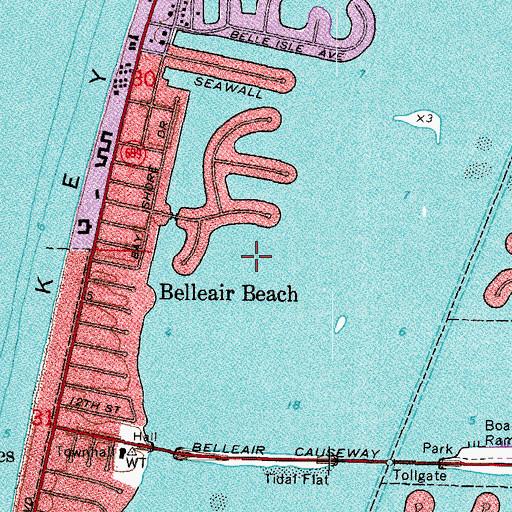Map Of Belleair Florida