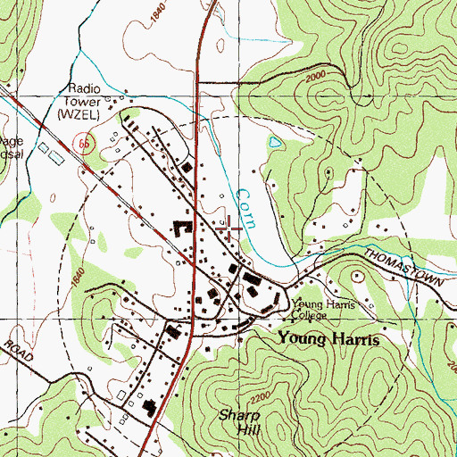 Map Of Young Harris Georgia.City Of Young Harris Ga