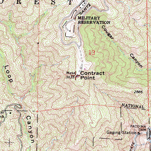 Topographic Map of Contract Point, CA