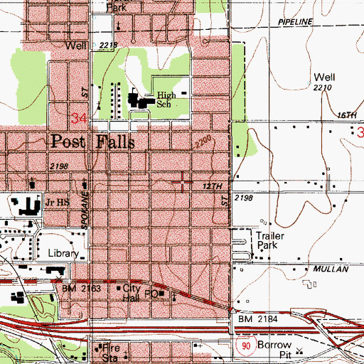 map of post falls idaho City Of Post Falls Id map of post falls idaho