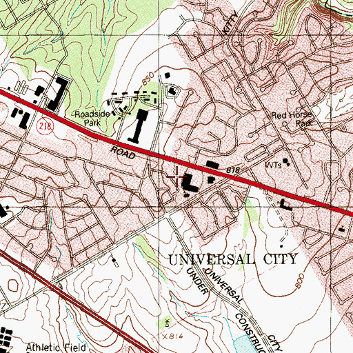 Topographic Map of City of Universal City, TX