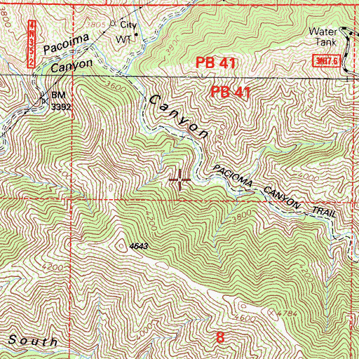 Topographic Map of Diamond Campground, CA
