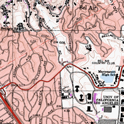 Topographic Map of Dry Canyon, CA