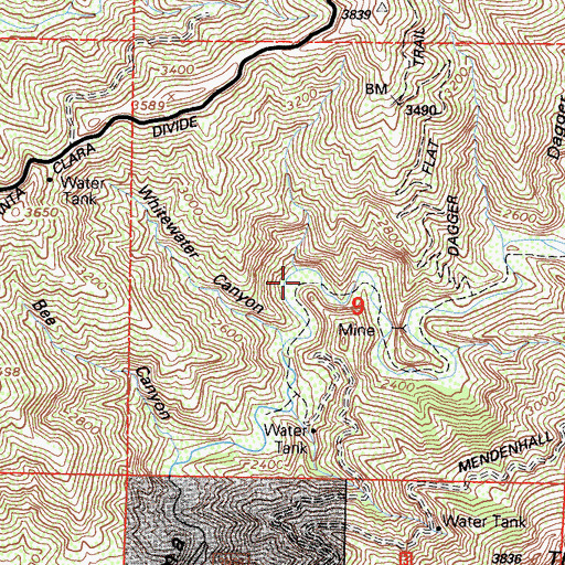 Topographic Map of Dutch Louie Campground, CA