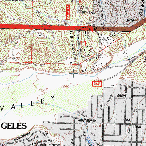 Topographic Map of Ebey Canyon, CA