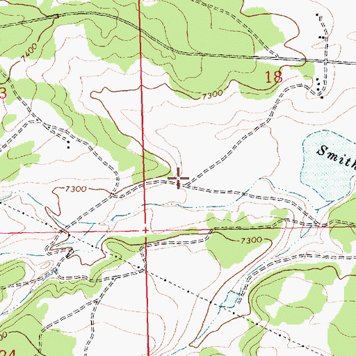 Topographic Map of Smith Lake Chapter, NM
