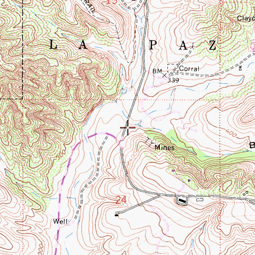 Topographic Map of Gabino Canyon, CA