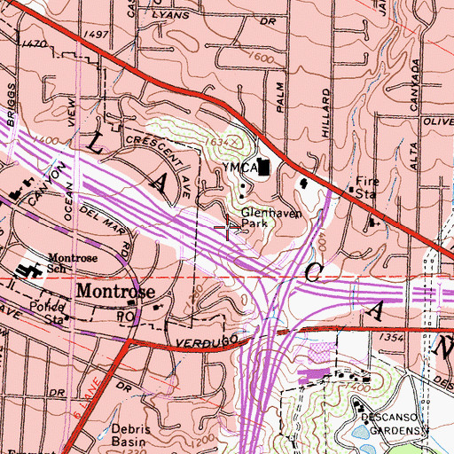 Topographic Map of Glenhaven Park, CA