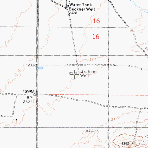 Topographic Map of Graham Well, CA