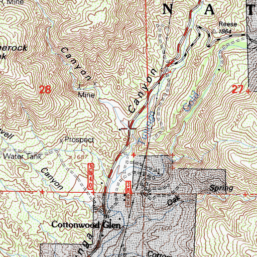 Topographic Map of Limerock Canyon, CA