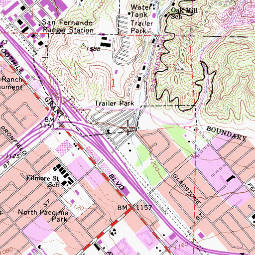 Topographic Map of Lopez Canyon, CA