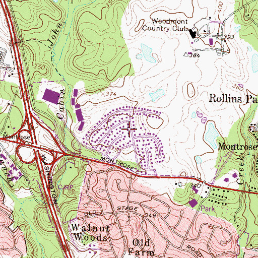 Topographic Map of North Farm, MD
