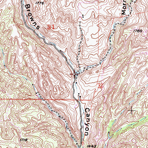 Topographic Map of Mormon Canyon, CA