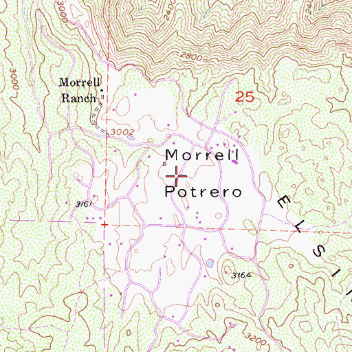 Topographic Map of Morrell Potrero, CA