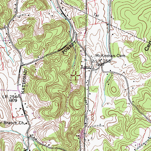 Topographic Map of Commissioner District 7, TN