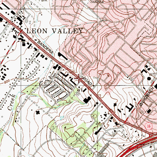 Topographic Map of Church on The Rock, TX
