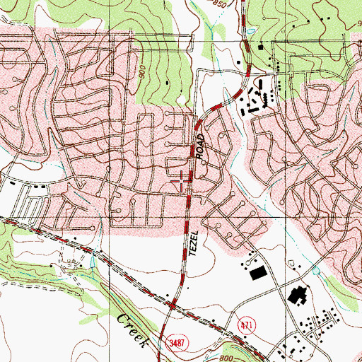 Topographic Map of Heartland Hills Community Church, TX