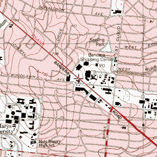 Topographic Map of University Park Post Office, TX
