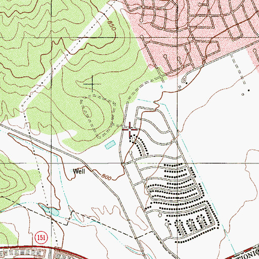 Topographic Map of Evers Elementary School, TX