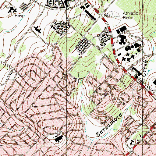 Topographic Map of Hardin-Simmons University, TX