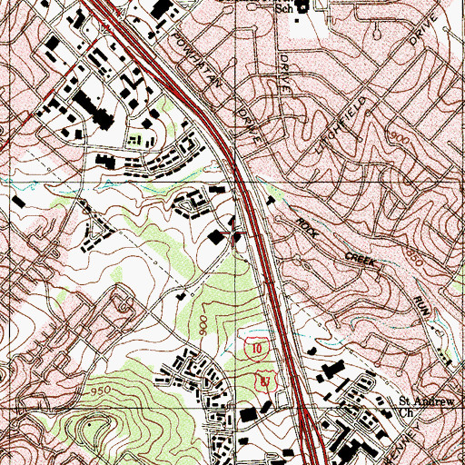 Topographic Map of Kindred Hospital San Antonio, TX