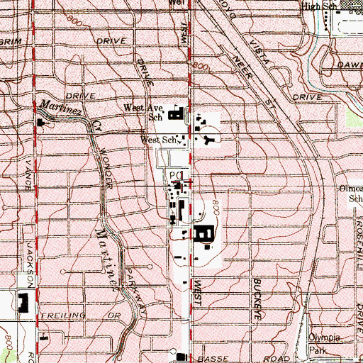 Topographic Map of Cresthaven Post Office, TX