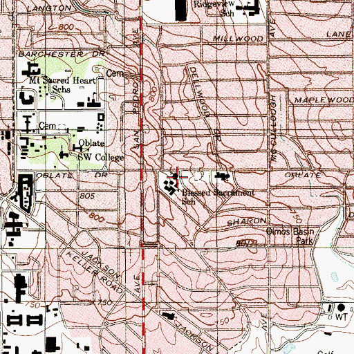 Topographic Map of Permanent Diaconate, TX