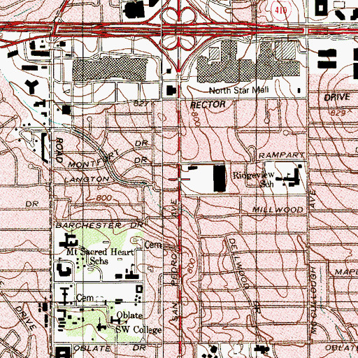 Topographic Map of Soka Gakkai International, TX