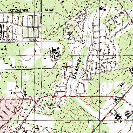 Topographic Map of Lutheran High School, TX