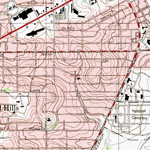 Topographic Map of Saint Davids Episcopal School, TX
