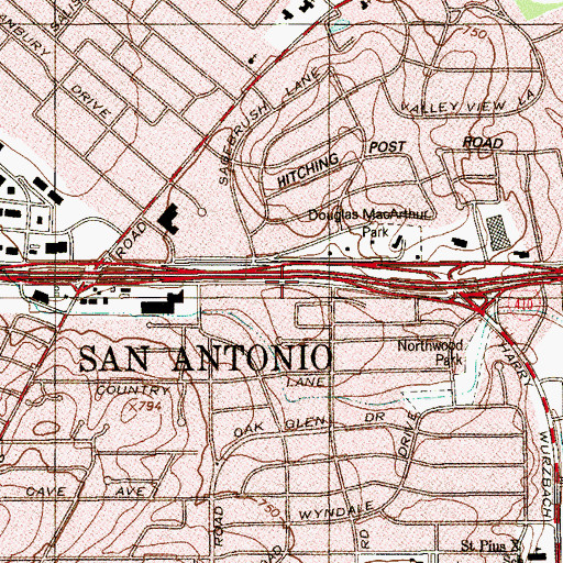 Topographic Map of School of Science And Technology, TX
