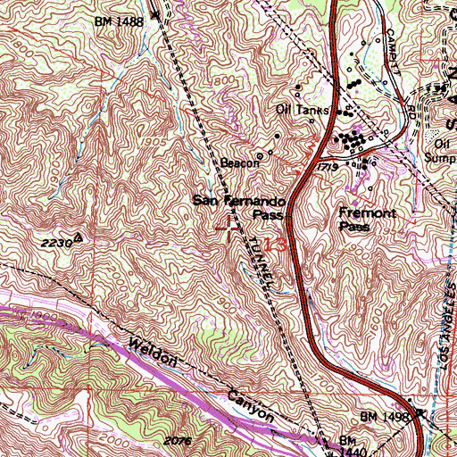 Topographic Map of Pacific Tunnel, CA