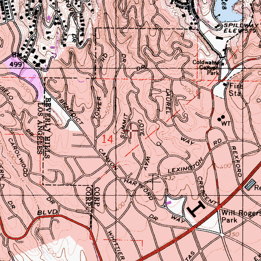 Topographic Map of Peavine Canyon, CA