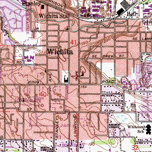 Topographic Map of Church of Christ of Linwood Avenue, OR