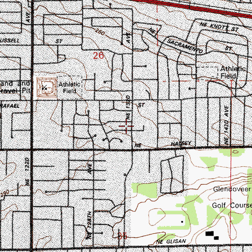 Topographic Map of Resurrection Lutheran Church, OR