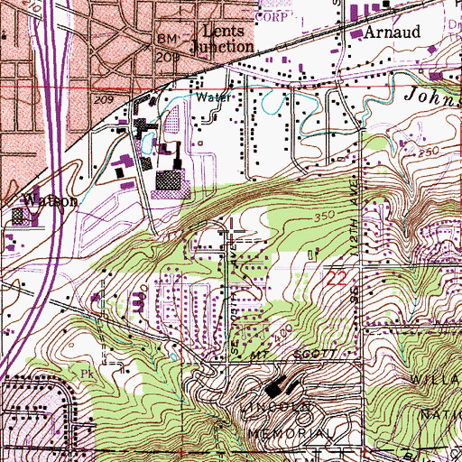 Topographic Map of Mount Scott Church of God, OR