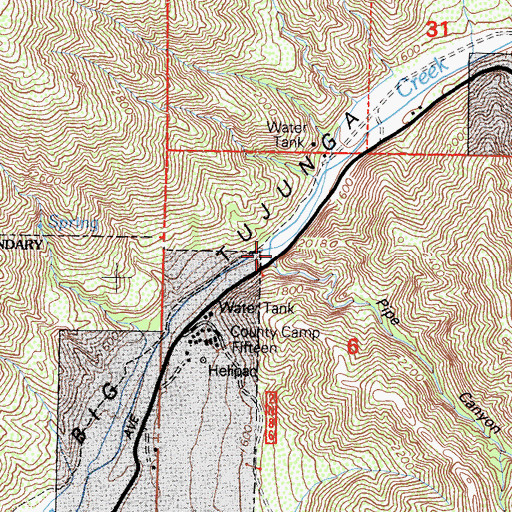 Topographic Map of Pipe Canyon, CA