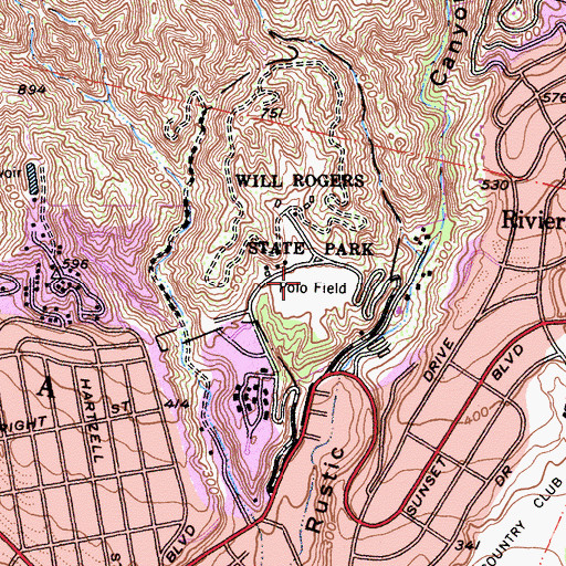 Topographic Map of Polo Field, CA