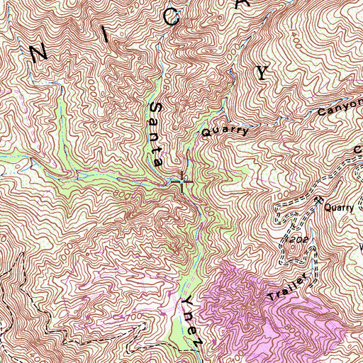 Topographic Map of Quarry Canyon, CA
