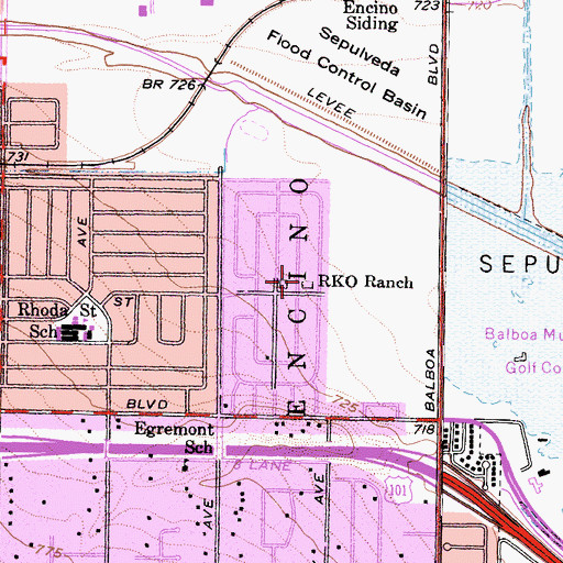 Topographic Map of RKO Ranch, CA