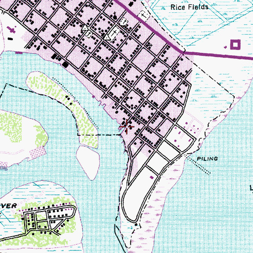 Topographic Map of Harborwalk Marina, SC